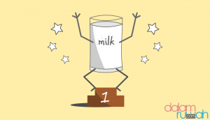 Manfaat minum susu. Yakin?